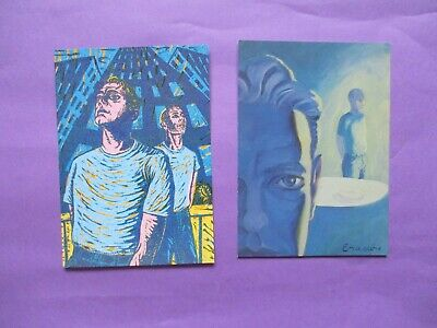 Lot Of 2 ERASURE PROMO POSTCARDS Fingers And Thumbs Stay With Me ORIGINAL 1995 • 5£