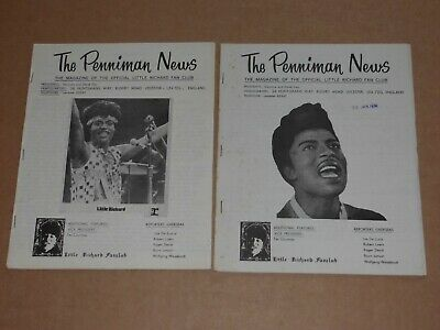 Little Richard Fan Club Magazine  Penniman News  - Lot  Of 2 Issues 1934/74 • 20£