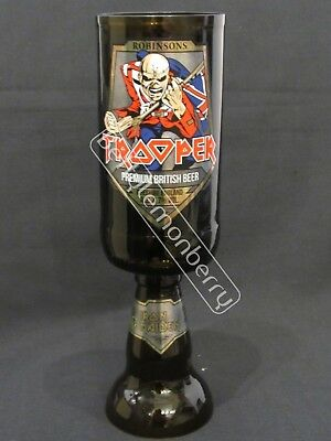 Iron Maiden Trooper Beer / Ale Chalice Glass Goblet -100% Recycled- Unique Gift! • 9.99£