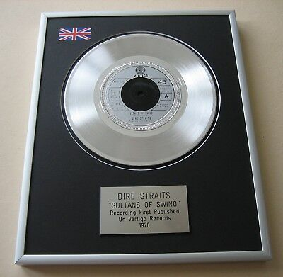 DIRE STRAITS Sultans Of Swing PLATINUM PRESENTATION DISC • 59£
