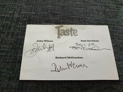 Rory Gallagher Taste A Taste Card Signed By The 3 Members  • 44.99£