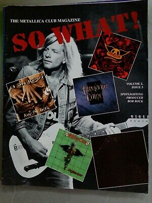 Metallica Fan Club Mag , So What Volume 2 Issue 3 • 12£