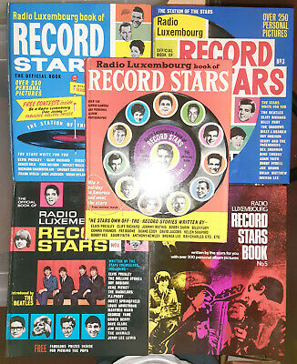 Radio Luxembourg Book Of Record Stars, 1962-1966 (full Set Of Five Books) • 40£