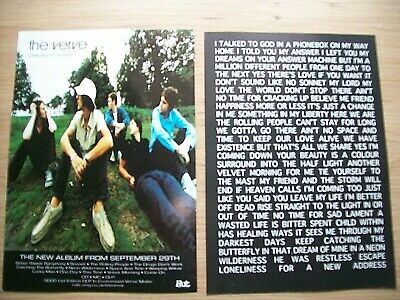 The Verve, Urban Hymns, A5 Size Promo Poster, Double Sided, Mint • 9.95£