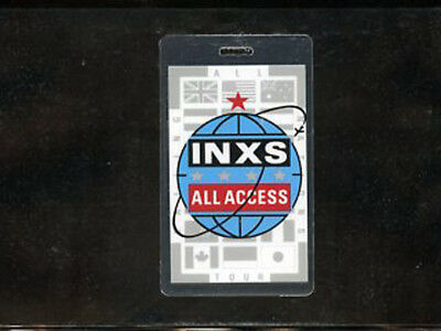 INXS - All Tour - Laminate All Access Backstage Pass • 17.87£