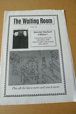 GENESIS The Waiting Room Fanzine #41 Steve Hackett Special • 4.99£