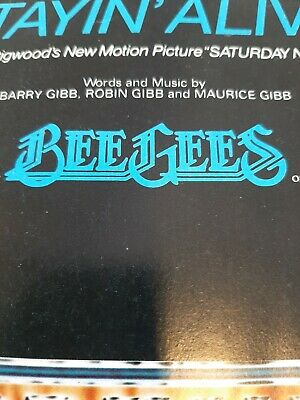 Rare Copy Investment Buyers Dream Bee Gees Staying Alive  - Song Sheet • 0.99£