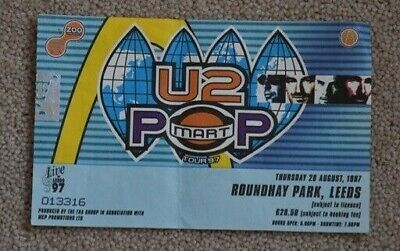 U2 Popmart Ticket Leeds 1997 • 10£