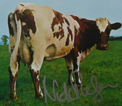 Atom Heart Mother Cd Insert & Menu Hand Signed By Nick Mason Of Pink Floyd & Cd • 170£