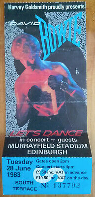 David Bowie UNUSED Tour Ticket Serious Moonlight Tour 1983 Let's Dance Edinburgh • 17.50£