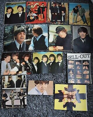 12+ Large Colour Beatles Fabulous Mag 1965 - 1966 Pages Cuttings Clippings • 10.99£