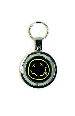 Nirvana Keyring Keychain Classic Smiley Face Band Logo Official New Spinner Size • 5.95£