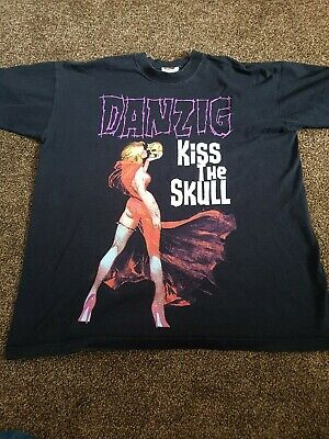 Danzig Tour Shirt Large Vintage 2002 Blue Grape • 18£