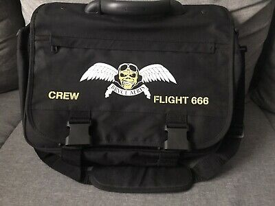 Iron Maiden Amolad World Tour Bruce Aeris AirCrew Issued Bag Not Vintage T Shirt • 149£