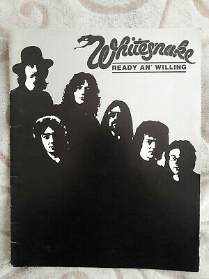 Whitesnake - Ready An' Willing Tour Programme 1980. Gary Moore G-Force • 11.99£