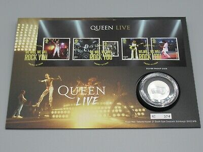 Queen 2020 Royal Mint 1/2 Ounce Silver Coin Cover - Freddie Mercury • 21£