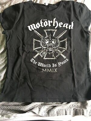 Motorhead The World Is Yours Skinny Tee Size M • 5£