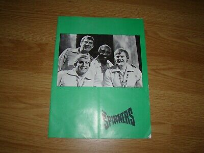 SPINNERS (FOLK GROUP) CONCERT PROGRAMME UK Emi 1977 12 Page • 3.50£