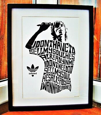 The Stone Roses/Ian Brown/I Wanna Be Adored A3 Size Typography Art Print/poster  • 13.99£