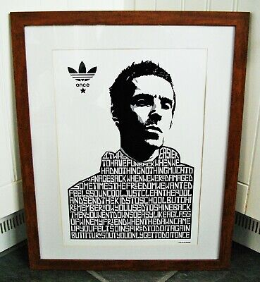 Liam Gallagher/Once A3 Size Typography Art Print/poster • 14.40£