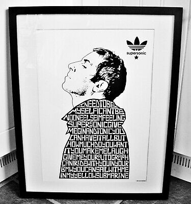 Oasis/Liam Gallagher/Supersonic A3 Size Typography Art Print/poster • 14.40£