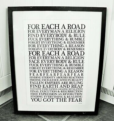 Ian Brown/Fear F.E.A.R. A3 Size Typography Art Print/poster  • 14.40£