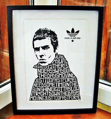 Oasis/Liam Gallagher/Rock N Roll Star A3 Size Typography Art Print/poster • 13.99£