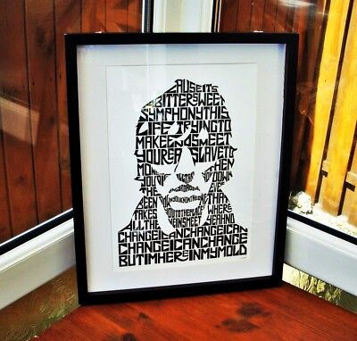 The Verve/R.Ashcroft/Bitter Sweet Symphony A3 Size Typography Art Print/poster • 14.40£