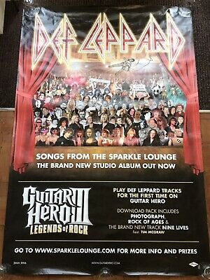 Def Leppard Songs From The Sparkle Lounge Original Giant Bus Stop Poster 1x1.5m • 75£
