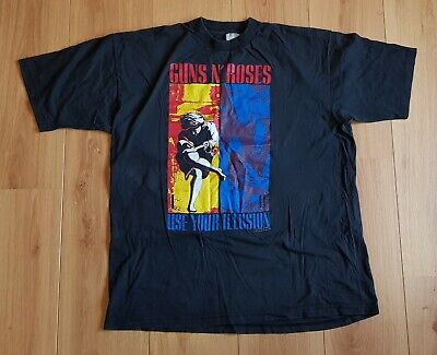 Guns N Roses Vintage Tshirt Xl Or Large Use Your Illusion 1 And 2 Tour 1991-1993 • 65£