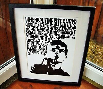 Joy Division/Love Will Tear Us Apart A3 Size Typography Art Print/poster  • 13.99£