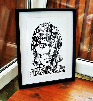 Ian Brown/Fear F.E.A.R./The Stone Roses A3 Size Typography Art Print/poster  • 14.40£