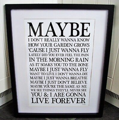 Oasis /  Live Forever A3 Size Typography Lyric Art Print/poster  • 13.99£