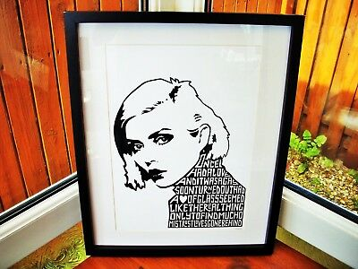 Blondie/Debbie Harry/Heart Of Glass A3 Size Typography Art Print/poster  • 13.99£