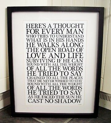 Oasis / Cast No Shadow A3 Size Typography Lyric Art Print/poster  • 13.99£