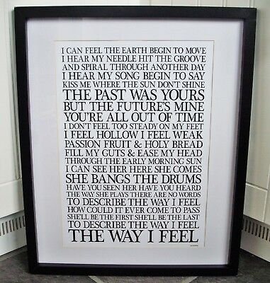 Stone Roses  /  She Bangs The Drums A3 Size Typography Lyric Art Print/poster  • 14.40£