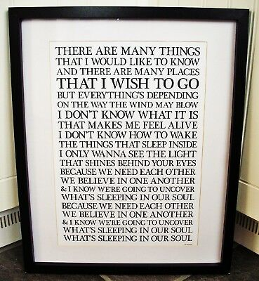Oasis /  Acquiesce A3 Size Typography Lyric Art Print/poster  • 13.99£