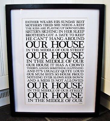 Madness/Our House A3 Size Lyric Art Print/poster  • 13.99£