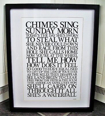 Stone Roses/Waterfall A3 Size Typography Lyric Art Print/poster  • 13.99£