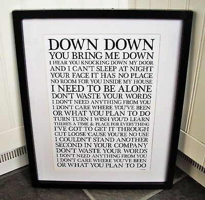 Stone Roses  /  I Am The Resurrection A3 Size Typography Lyric Art Print/poster  • 13.99£