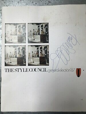 The Style Council General Election '87 Tour Programme AUTOGRAPHED BY PAUL WELLER • 42£