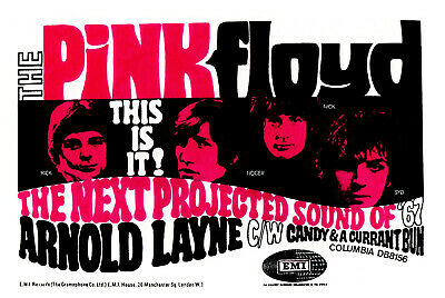 SYD BARRETT POSTER. A3 Repro. Pink Floyd, Psychedelia. • 5.99£