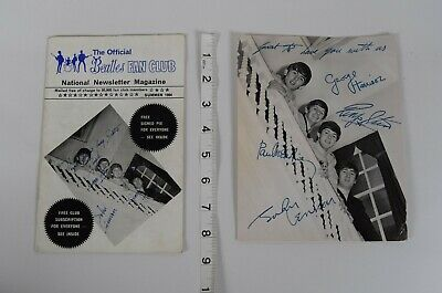 Beatles Fan Club 1964 Newsletter Mag + Signed Photo - Subbuteo & 13 Other Ads • 34.99£