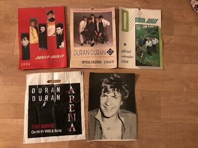 Duran Duran 1984 1985 1986  Official Calendar  And Free Photo And Plastic Bag  • 49£