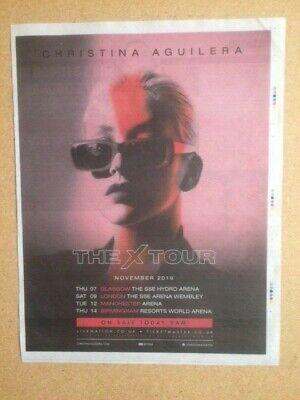 CHRISTINA AGUILERA Original Newspaper  The X Tour 2019  Advert / Poster • 8£