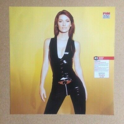 SHANIA TWAIN Original Vintage  FHM Decade Of 100 Sexiest  Poster (SP) • 8£
