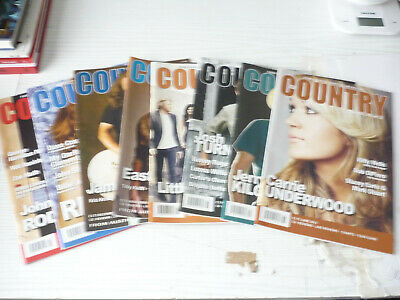 Eight Country Music People Magazines  2012 • 11£