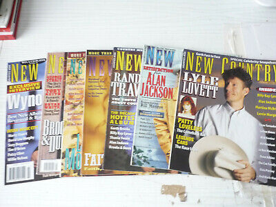 SEVEN  NEW COUNTRY MAGAZINES  1990s  AMERICAN MAGZINES • 9£