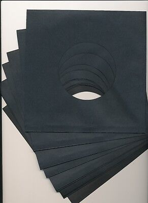 7  BLACK PAPER RECORD SLEEVES - (pack Of 50) Superb Quality!!! • 6.99£