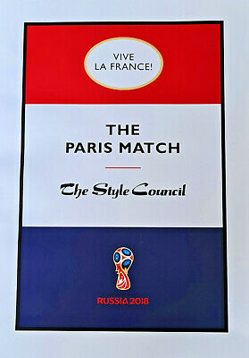 The Style Council The Paris Match Limited Edition Print Unframed 42cm By 30cm • 9£